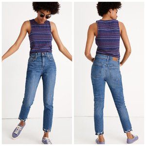 Madewell The High-Rise Slim Boyjean Melbourne Wash